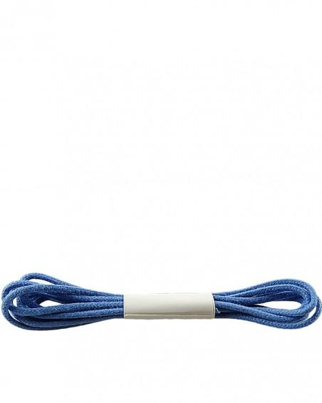 Niebieskie, cienkie, woskowane sznurówki do butów, 90 cm, Halan