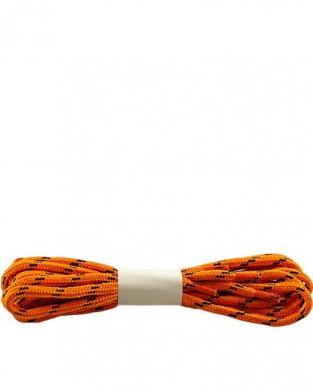 Pomarańczowo-czarne, trekkingowe sznurówki do butów, 150 cm, Halan