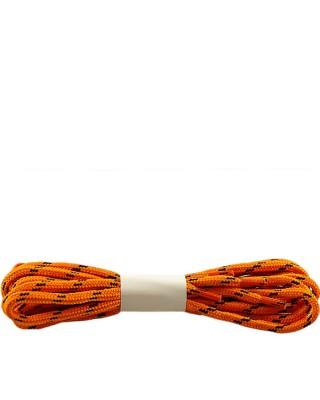 Pomarańczowo-czarne, trekkingowe sznurówki do butów, 120 cm, Halan