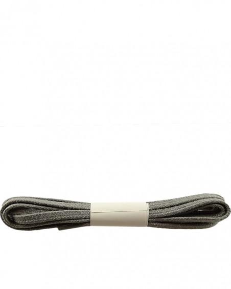Szare, płaskie, woskowane sznurówki do butów, 120 cm, Halan