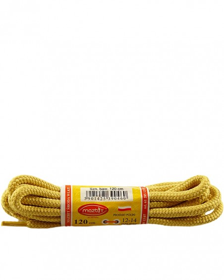 Miodowe, trekkingowe sznurówki do butów, 120 cm, Mazbit