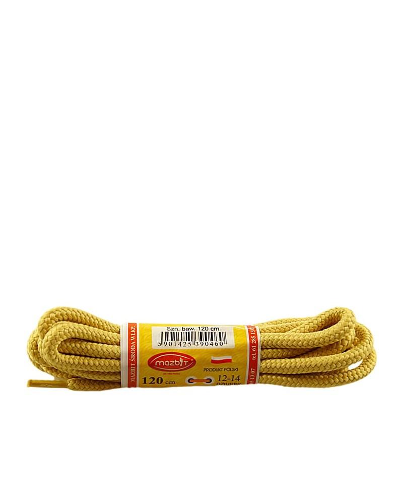 Miodowe, trekkingowe sznurówki do butów, 100 cm, Mazbit