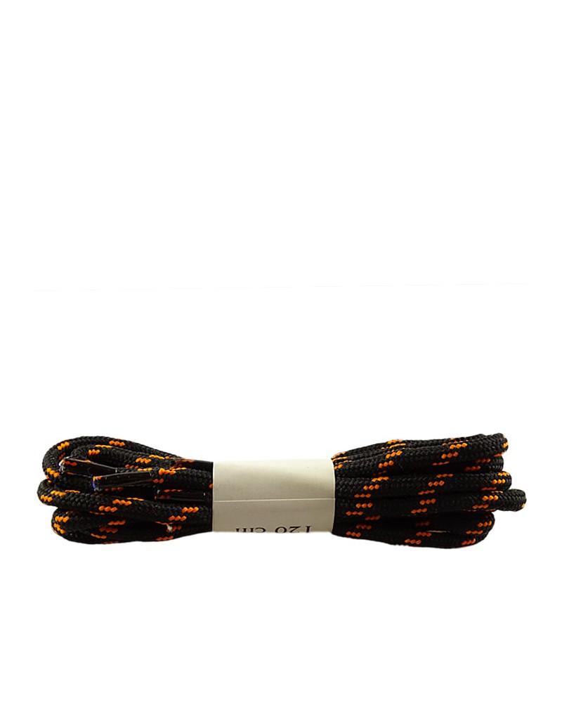 Czarno-pomarańczowe, trekkingowe sznurówki do butów, 120 cm, Halan