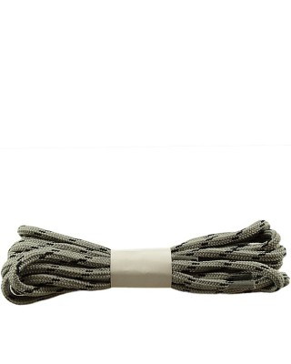 Szaro-czarne, trekkingowe sznurówki do butów, 120 cm, Halan