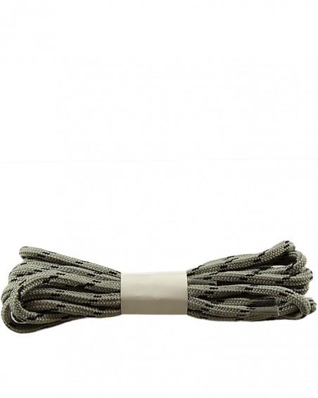 Szaro-czarne, trekkingowe sznurówki do butów, 150 cm, Halan