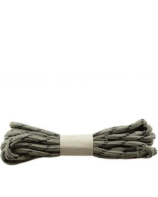 Szaro-czarne, trekkingowe sznurówki do butów, 180 cm, Halan
