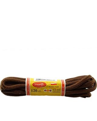 Brązowe, trekkingowe sznurówki do butów, 120 cm, Mazbit