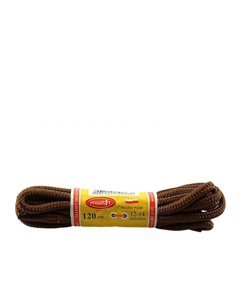 Brązowe, trekkingowe sznurówki do butów, 100 cm, Mazbit