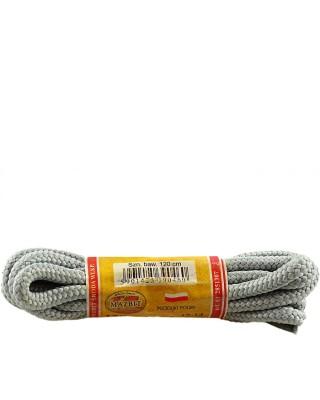 Szare, popielate, trekkingowe sznurówki do butów, 100 cm, Mazbit