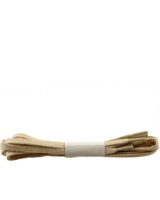 Beżowe, płaskie, woskowane sznurówki do butów, 120 cm, Halan