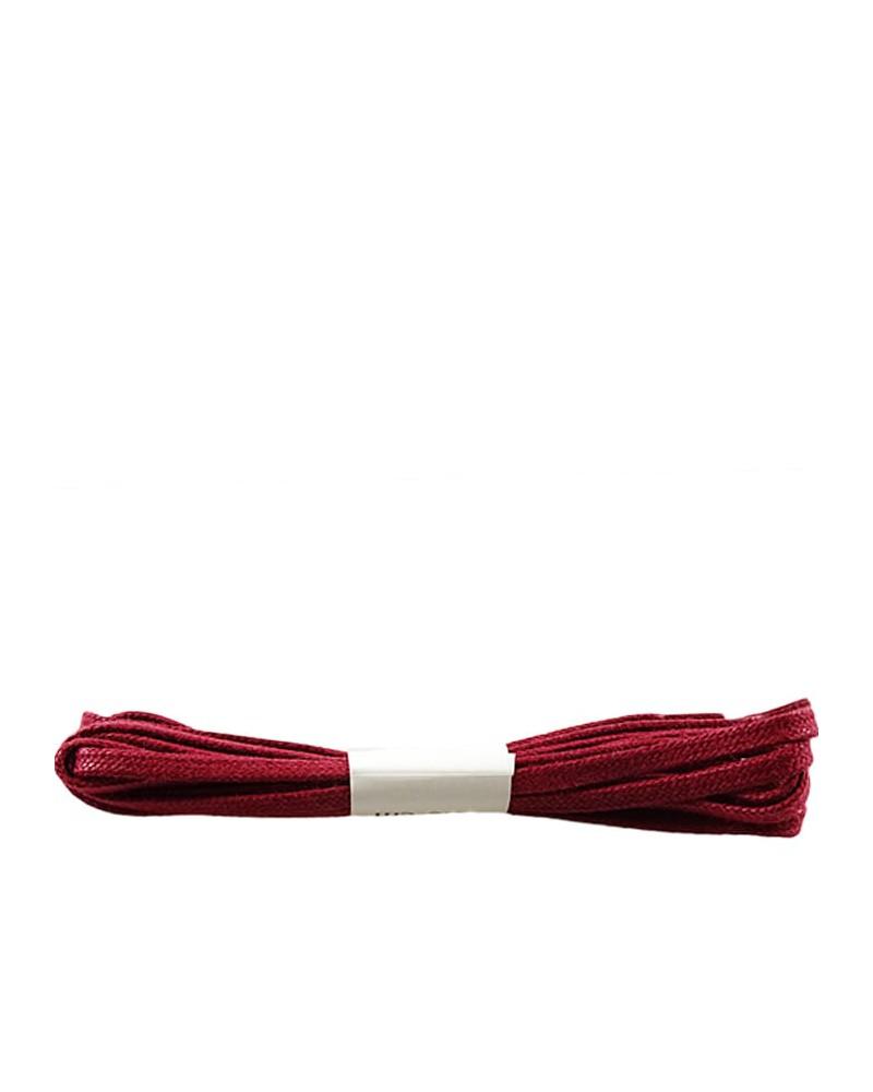 Bordowe, płaskie, woskowane sznurówki do butów, 150 cm, Halan