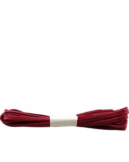 Bordowe, płaskie, woskowane sznurówki do butów, 100 cm, Halan