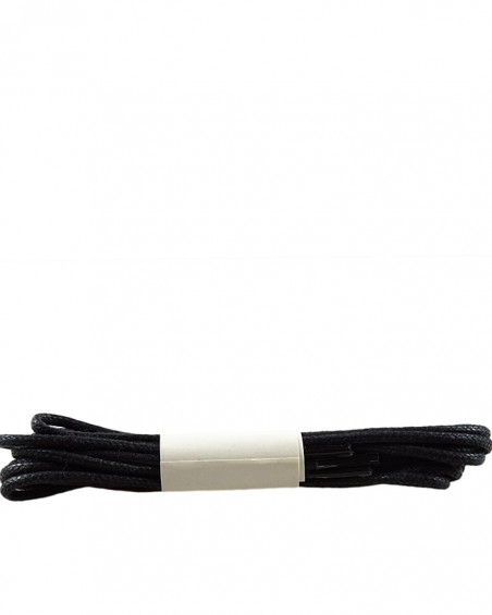 Czarne, cienkie, woskowane sznurówki do butów, 120 cm, Halan
