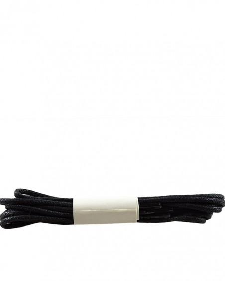 Czarne, cienkie, woskowane sznurówki do butów, 150 cm, Halan