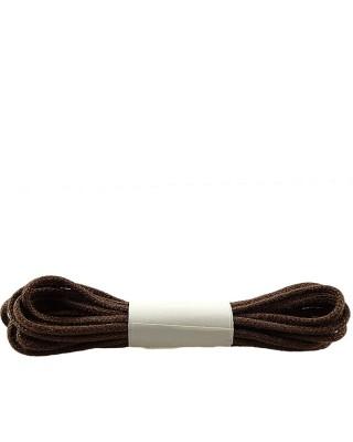 Brązowe, cienkie, woskowane sznurówki do butów, 75 cm, Halan