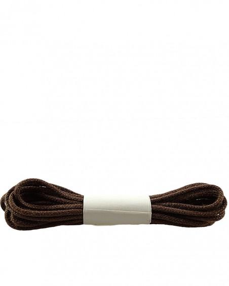 Brązowe, cienkie, woskowane sznurówki do butów, 90 cm, Halan