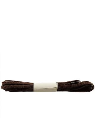 Brązowe, płaskie, woskowane sznurówki do butów, 75 cm, Halan