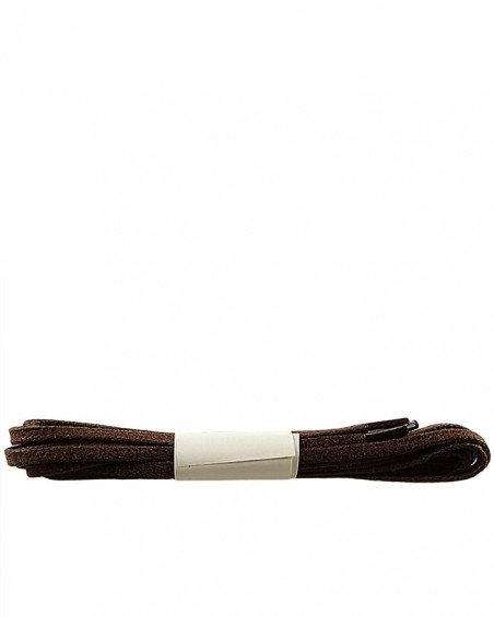 Brązowe, płaskie, woskowane sznurówki do butów, 180 cm, Halan