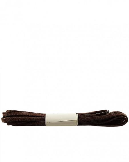 Brązowe, płaskie, woskowane sznurówki do butów, 120 cm, Halan