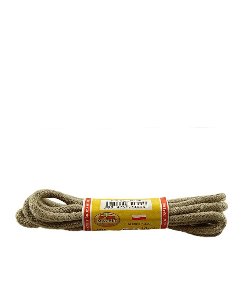 Beżowe, okrągłe grube, sznurówki do butów, 150 cm, Mazbit
