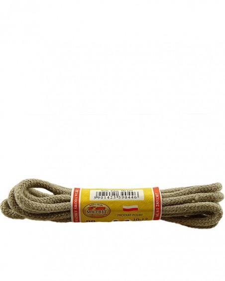 Beżowe, okrągłe grube, sznurówki do butów, 90 cm, Mazbit