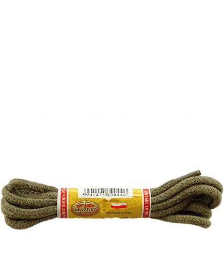 Okrągłe grube, sznurówki do butów, oliwka, 90 cm, Mazbit