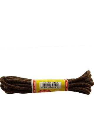 Brązowe, okrągłe grube, sznurówki do butów, 90 cm, Mazbit