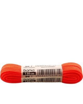 Płaskie, pomarańczowe, sznurówki do butów, 120 cm, Bama