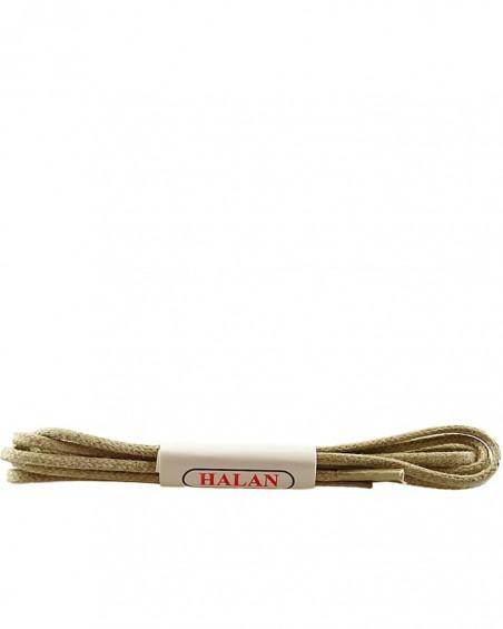 Jasnobeżowe, cienkie, woskowane sznurówki do butów, 90 cm, Halan