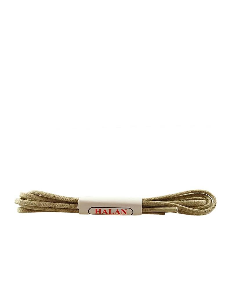 Jasnobeżowe, cienkie, woskowane sznurówki do butów, 120 cm, Halan