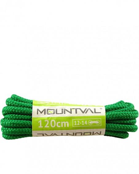 Zielone, trekkingowe sznurówki do butów, 120 cm, Mountval