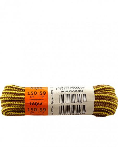 Melanżowe, okrągłe grube, sznurówki do butów, 100 cm, Kaps