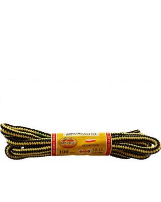 Miodowo-czarne, trekkingowe sznurówki do butów, 150 cm, Mazbit
