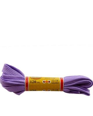 Jasnofioletowe, płaskie, sznurówki do butów, sport, 120 cm, Mazbit