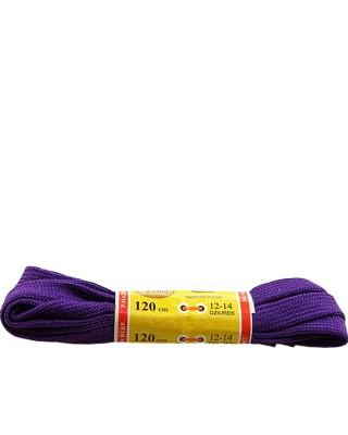 Fioletowe, płaskie, sznurówki do butów, sport, 120 cm, Mazbit
