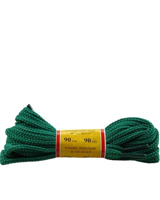 Zielone, płaskie, sznurówki do butów, sport, 15, 90 cm, Mazbit