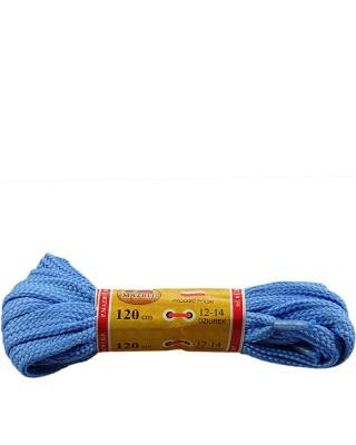 Niebieskie, płaskie, sznurówki do butów, sport, 15, 120 cm, Mazbit