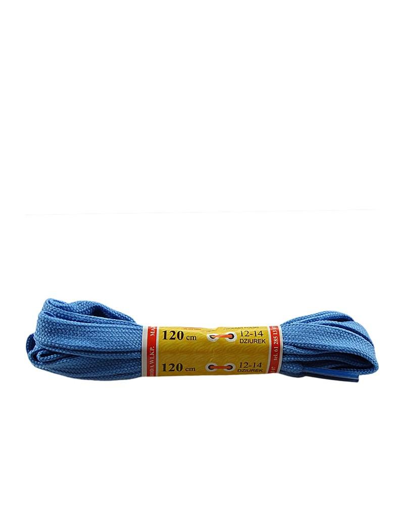 Jasnoniebieskie, płaskie, sznurówki do butów, sport, 90 cm, Mazbit