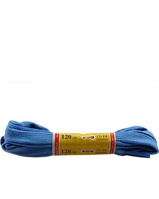 Jasnoniebieskie, płaskie, sznurówki do butów, sport, 120 cm, Mazbit