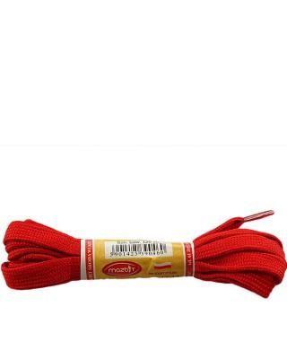 Czerwone, płaskie, sznurówki do butów, sport, 10, 120 cm, Mazbit
