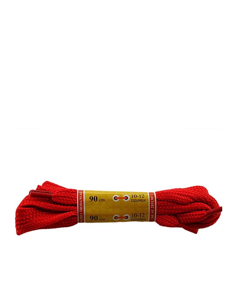 Czerwone, płaskie, sznurówki do butów, sport, 15, 90 cm, Mazbit