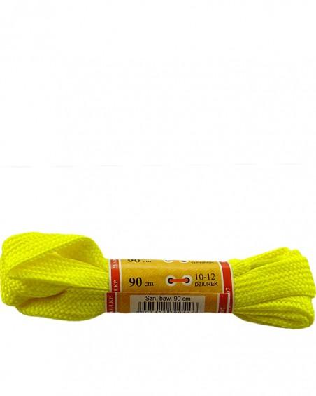 Żółte, płaskie, sznurówki do butów, sport, 15, 90 cm, Mazbit