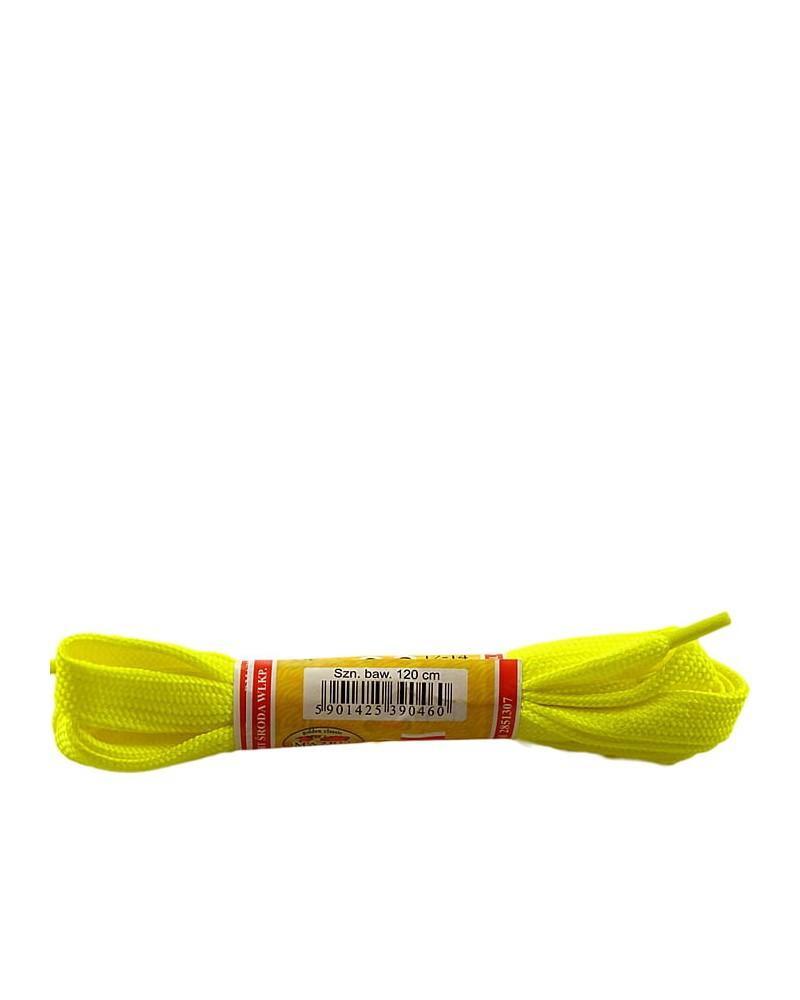 Żółte, płaskie, sznurówki do butów, sport, 10, 120 cm, Mazbit