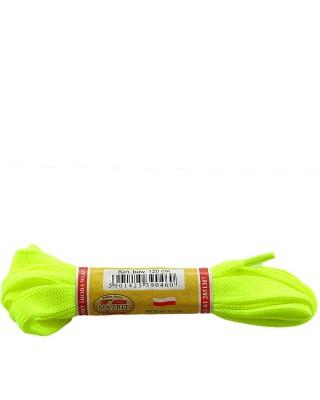 Żółte, płaskie, sznurówki do butów, neon sport, 10, 120 cm