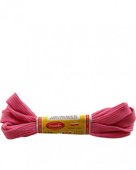 Płaskie, różowe, sznurówki do butów, sport, 90 cm, Mazbit