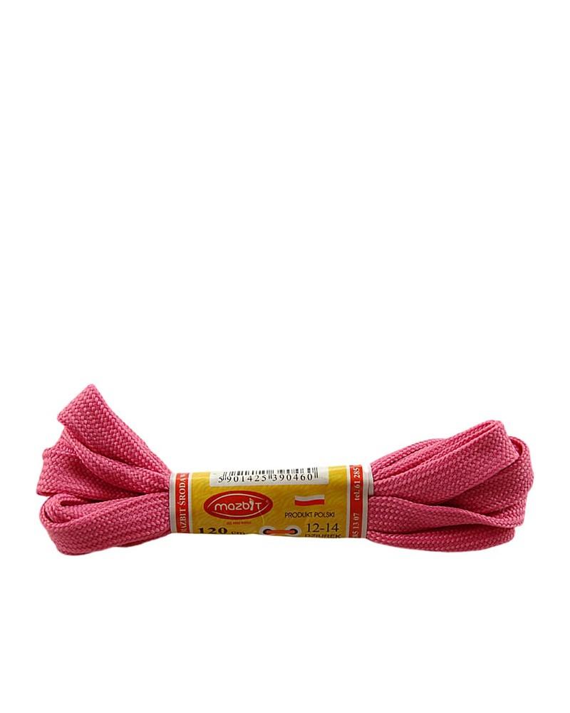 Płaskie, różowe, sznurówki do butów, sport, 120 cm, Mazbit
