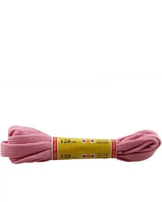 Płaskie, jasnoróżowe, sznurówki do butów, sport, 10, 120 cm