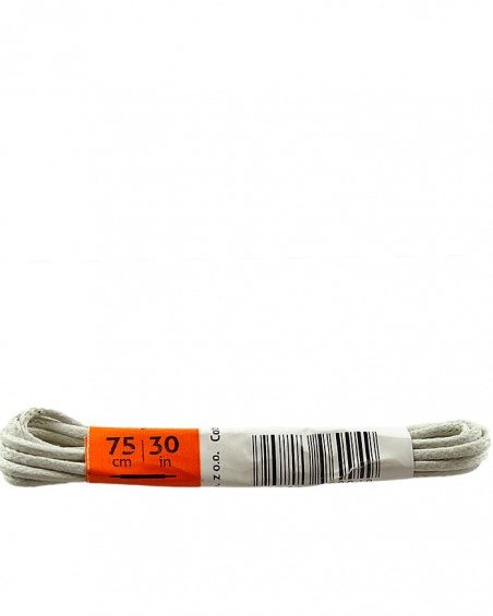 Jasnoszare, cienkie, woskowane sznurówki do butów, 75 cm, Kaps