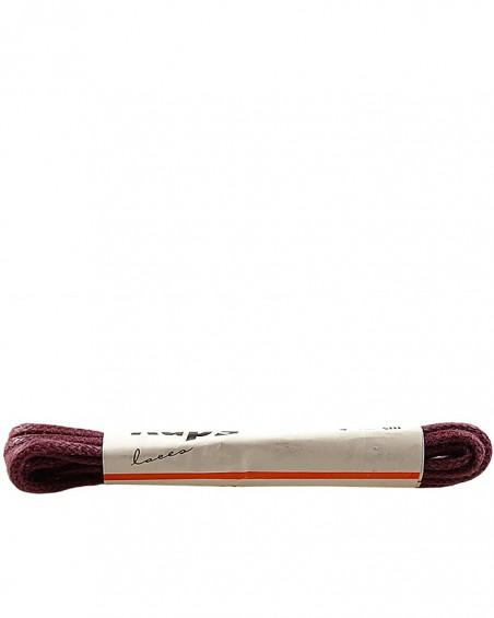 Bordowe, cienkie, woskowane sznurówki do butów, 75 cm, Kaps