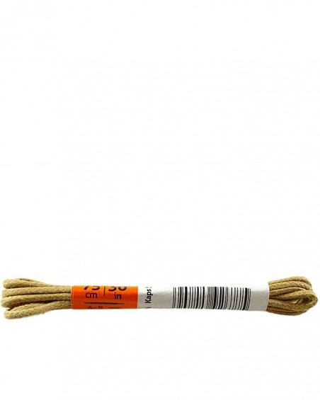 Beżowe, cienkie, woskowane sznurówki do butów, 75 cm, Kaps